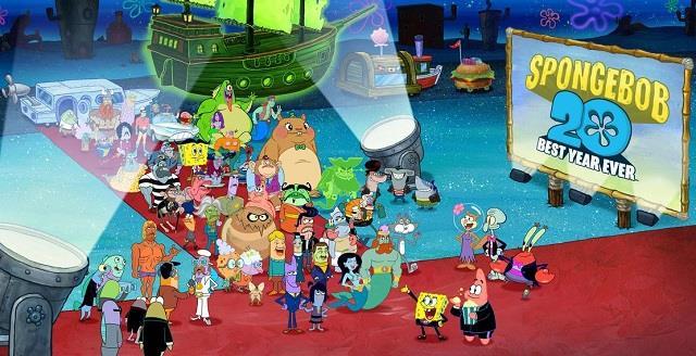 Sul red carpet di Bikini Bottom, in fondo al mare, sfilano i protagonisti della serie di Spongebob