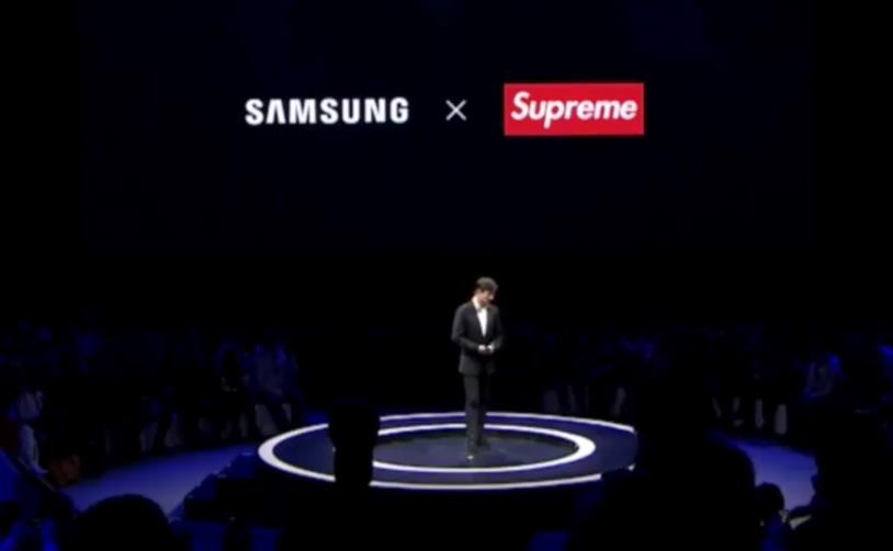 Fotogramma dell'evento Samsung in Cina per l'annuncio del Galaxy A8s