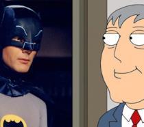 Adam West nei panni di Batman e del sindaco di Quahog