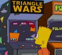 Bart Simpson gioca ai videogiochi