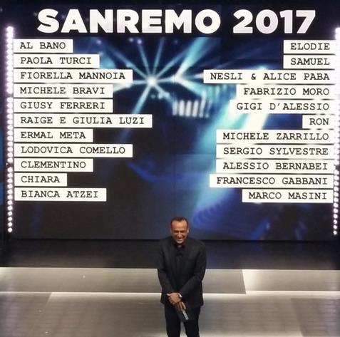Sanremo 2017: ecco i Big