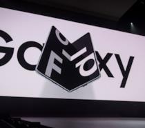 Il Galaxy Fold mostrato durante l'evento Unpacked 2019