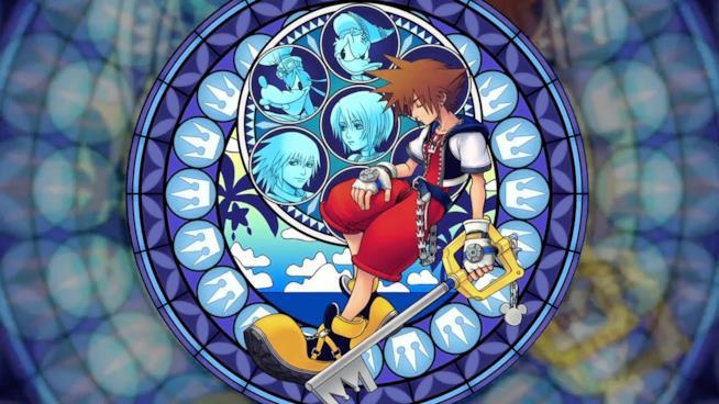 Sora sulla cover del primo capitolo di Kingdom Hearts