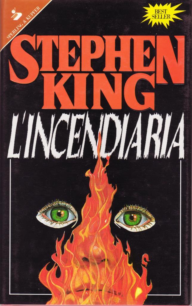 L'Incendiaria, la copertina del libro