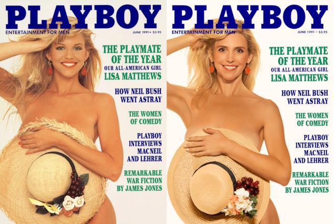 Lisa Matthews in posa per Playboy