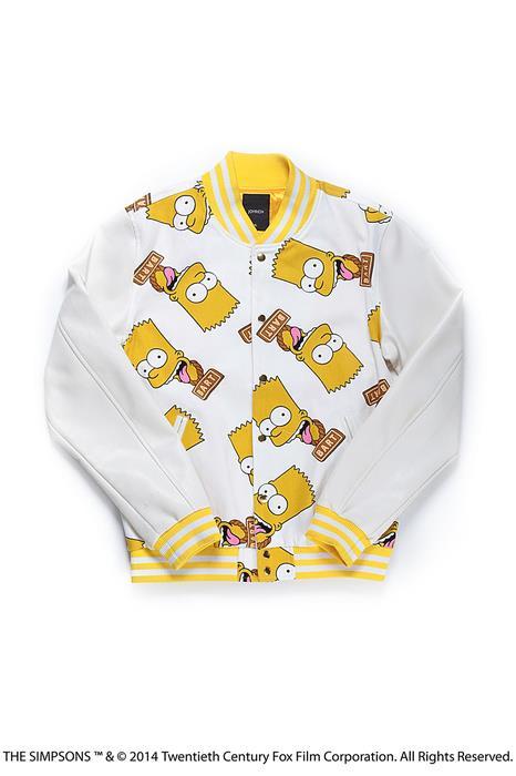 La felpa della collezione Joyrich dedicata ai Simpson