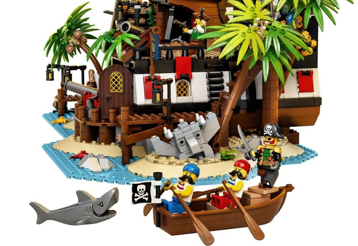 L'isolotto del set LEGO I pirati di Barracuda Bay
