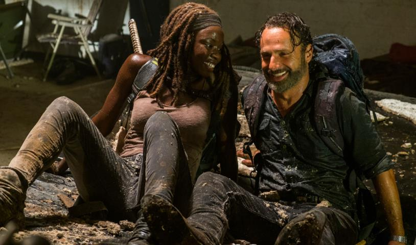 Rick e Michonne in The Walking Dead