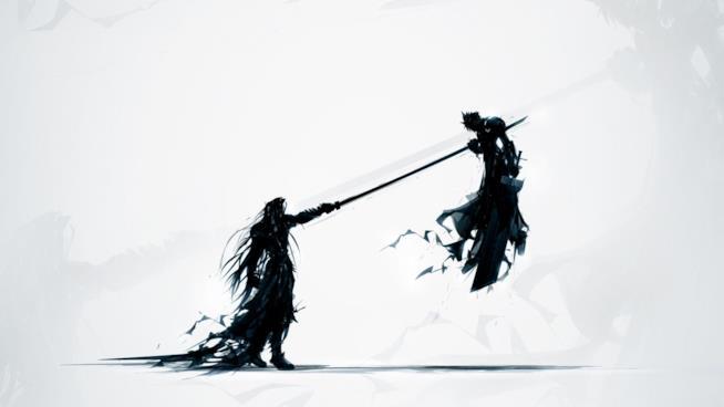 Sephiroth e Cloud da FFVII
