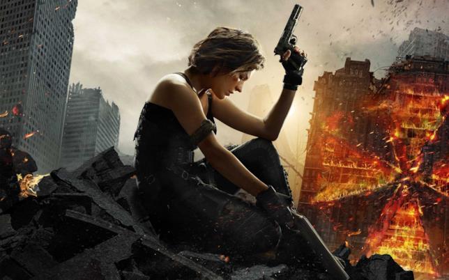 Milla Jovovich nel poster del romanzo di Resident Evil: The Final Chapter