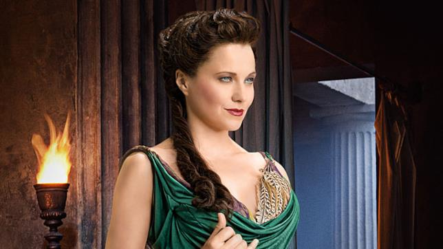Lucretia, il personaggio di Lucy Lawless in Spartacus