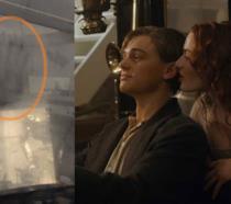 Kate Winslet e Leonardo DiCaprio in auto in una scena di Titanic