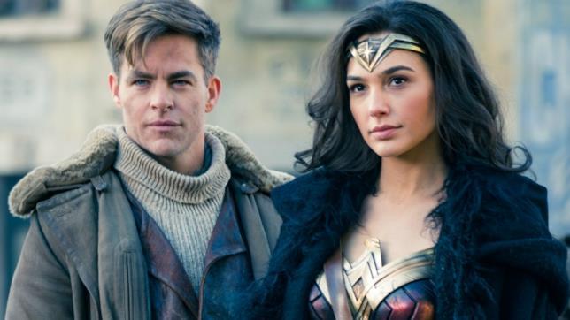 Una scena di Wonder Woman con Diana e Steve