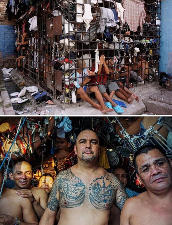 L'interno del carcere Penal De Ciudad Barrios, Ciudad Barrios, San Miguel, El Salvador