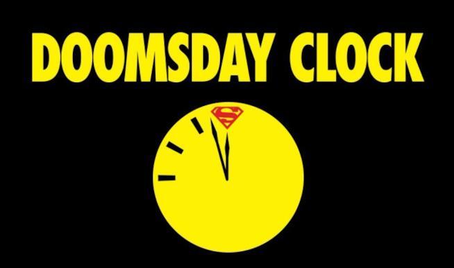 Locandina di Doomsday clock, Fumetto presentato in anteprima al New York Comic Con