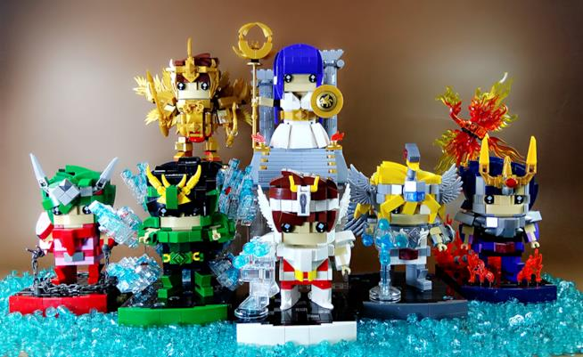 Brickheadz LEGO: alcuni set dedicati a I Cavalieri dello Zodiaco costruiti da Ben Fong