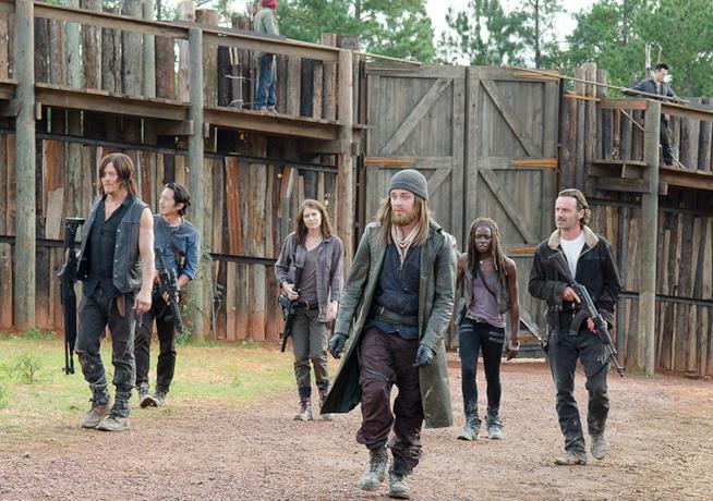 Alcuni protagonisti di The Walking Dead