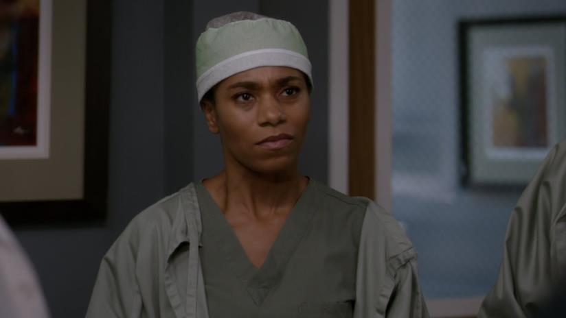 Maggie in una scena di Grey's Anatomy 16