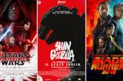 I poster dei film Star Wars: Gli Ultimi Jedi, Shin Godzilla, Blade Runner 2049