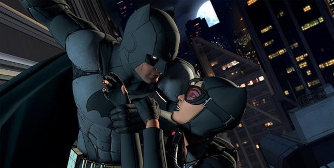 Batman corre in aiuto di Catwoman in Batman - The Telltale Series