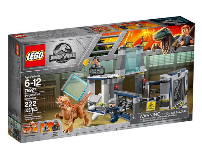 Dettagli del box del set LEGO L'evasione dello Stygimoloch