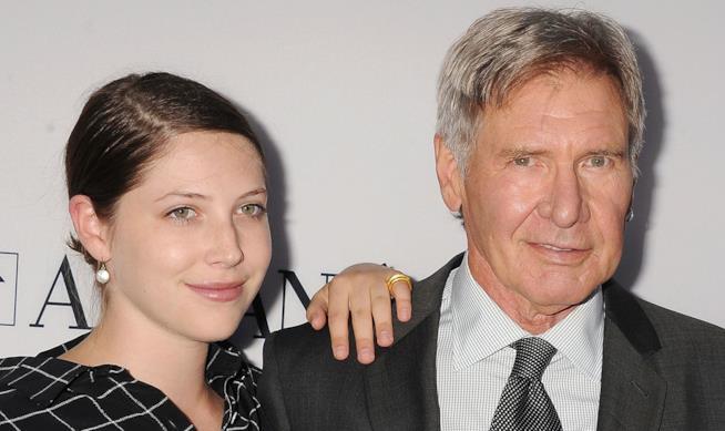 Primo piano di Harrison Ford con la figlia Georgia