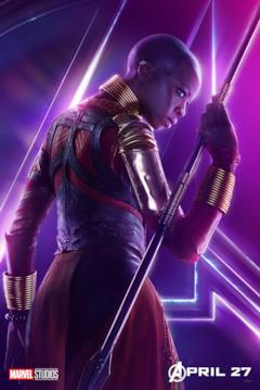 Il poster del personaggio di Okoye