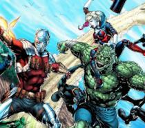 Alcuni membri della Suicide Squad in azione sulle pagine DC Comics