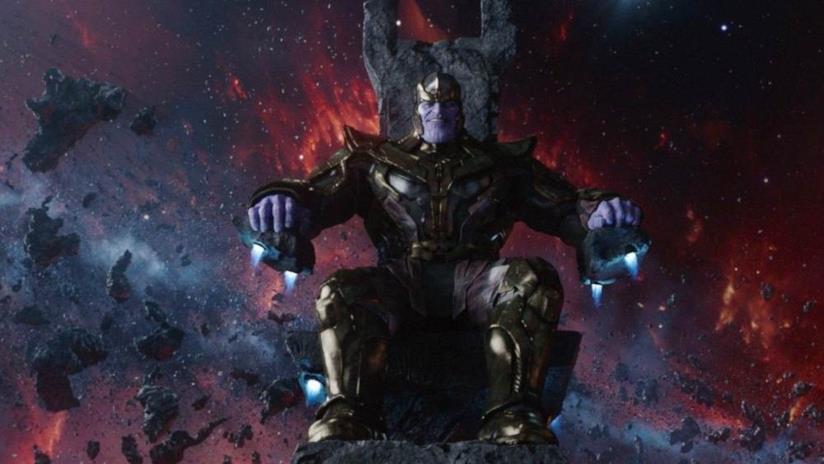 Thanos, il villain in Avengers: Infinity War