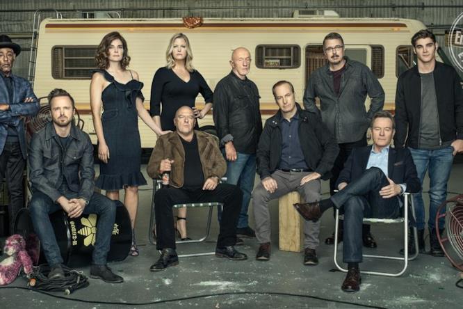 I componenti principali del cast di Breaking Bad