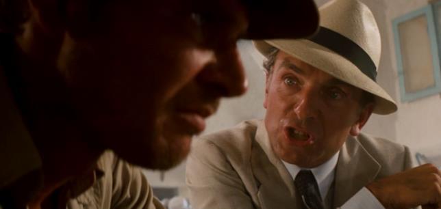 Una scena dal film I predatori dell'Arca perduta, di Steven Spielberg del 1981