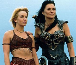 Xena e Olimpia nella serie TV