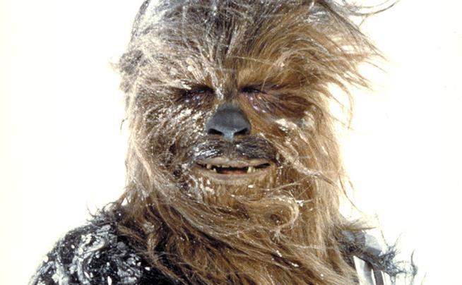 Chewbacca in una scena di Star Wars L'Impero colpisce ancora