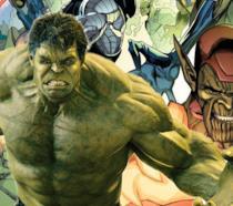 Hulk in un gruppo di Skrull