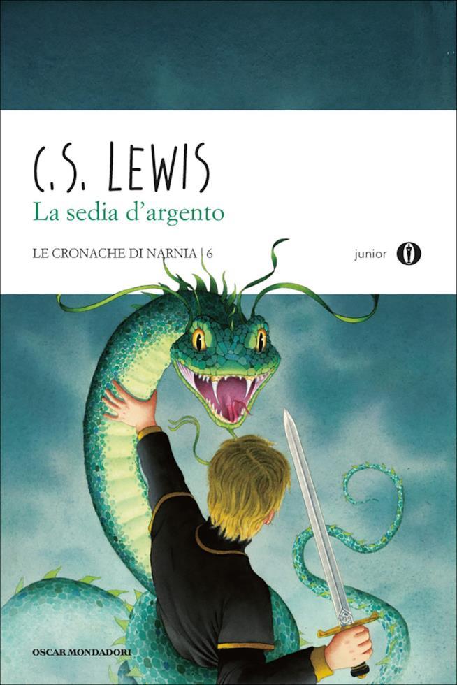 La copertina italiana di Le Cronache di Narnia - La Sedia d'Argento (Mondadori)