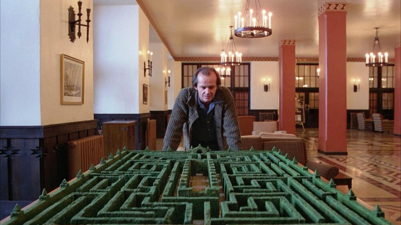 Jack Nicholson in Shining, il labirinto dell'Overlook Hotel è l'archetipo della sua psiche