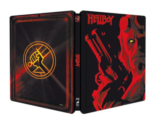 Foto esterna dello steelbook di Hellboy