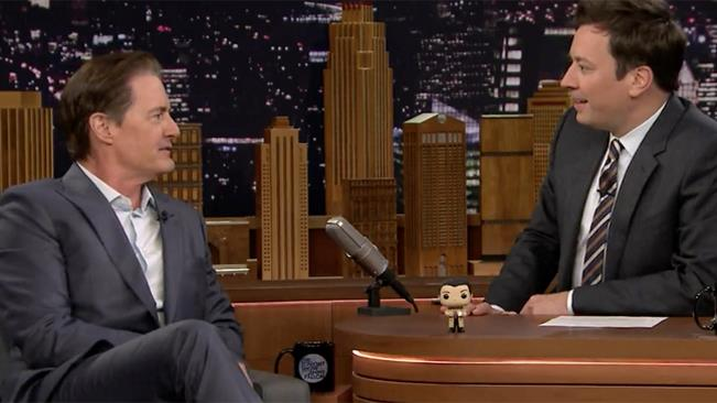 Kyle MacLachlan e Jimmy Fallon al The Tonight Show