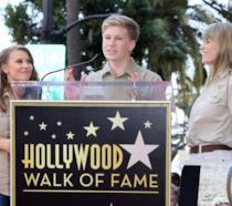 La famiglia di Steve Irwin sulla Walk of Fame