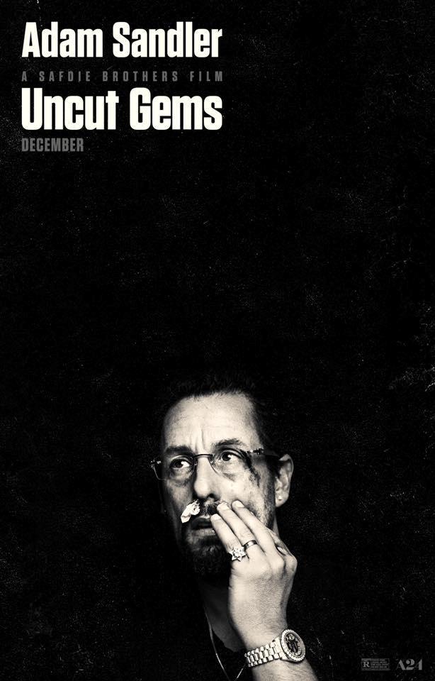 Adam Sandler nel poster del film Uncut Gems
