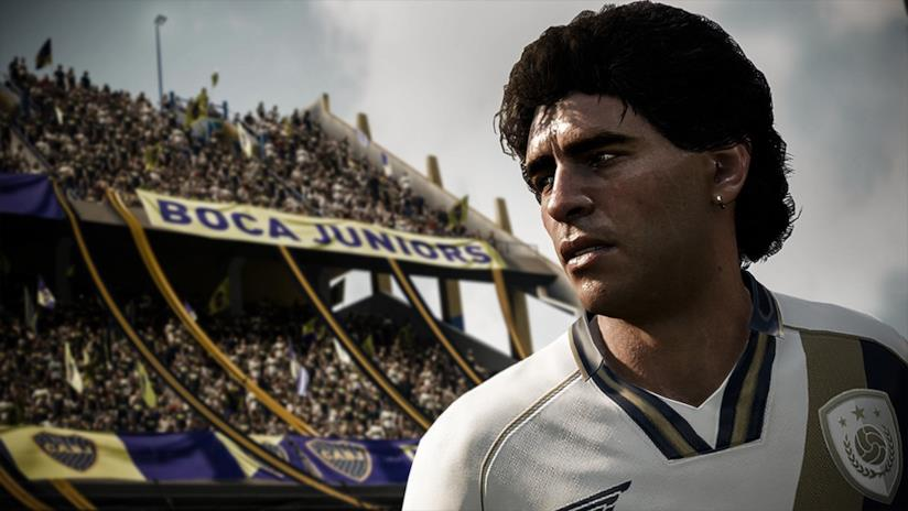 La versione virtuale di Maradona in FIFA 18