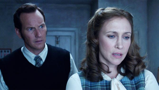 Un'immagine di The Conjuring 3 con i due protagonisti