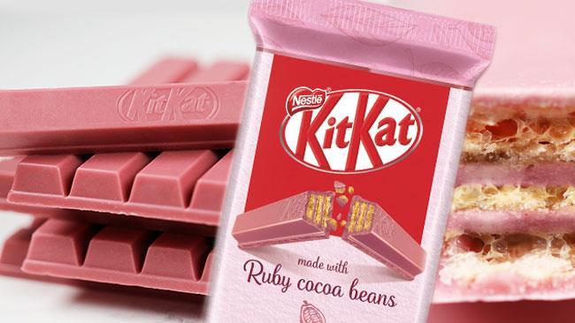 Kit Kat al cioccolato rosa