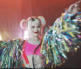 Margot Robbie nei panni di Harley Quinn in Birds of Prey