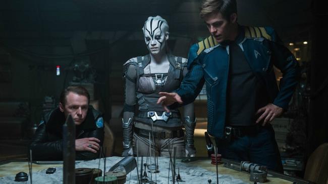 Una scena tratta da Star Trek Beyond