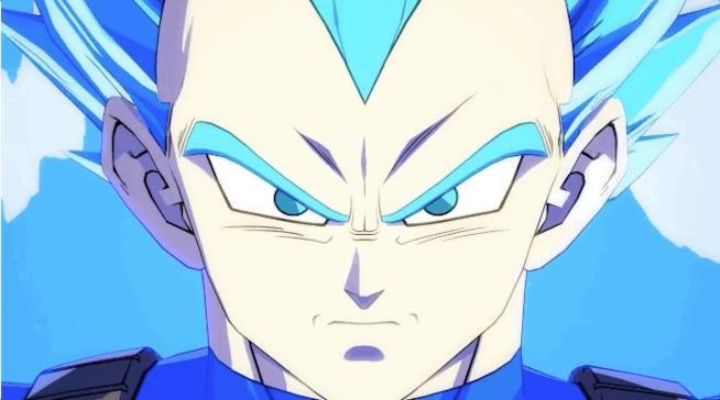 Una GIF mostra Vegeta Super Saiyan in Dragon Ball FighterZ