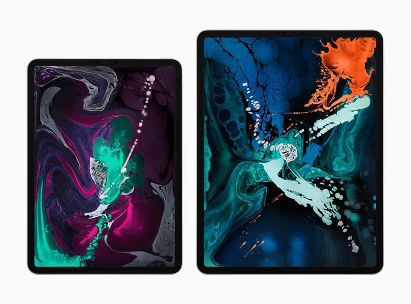 Immagine stampa che mostra le due varianti di iPad Pro