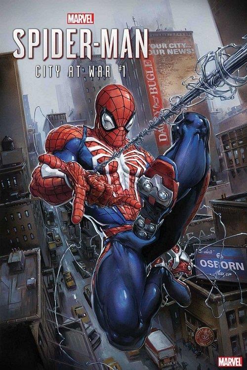 La copertina del primo numero di Marvel's Spider-Man: City at War