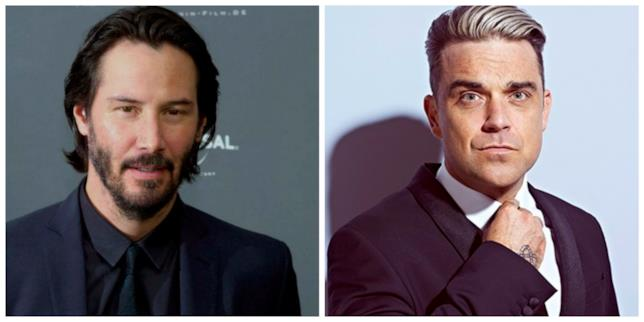 Keanu Reeves e Robbie Williams in primo piano