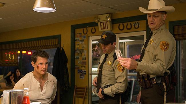 Gli attori Tom Cruise, Judd Lormand and Jason Douglas